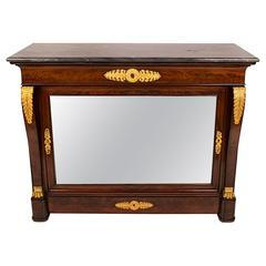 French Restauration Period Cabinet in Mahogany with Ormolu Mounts, circa 1830