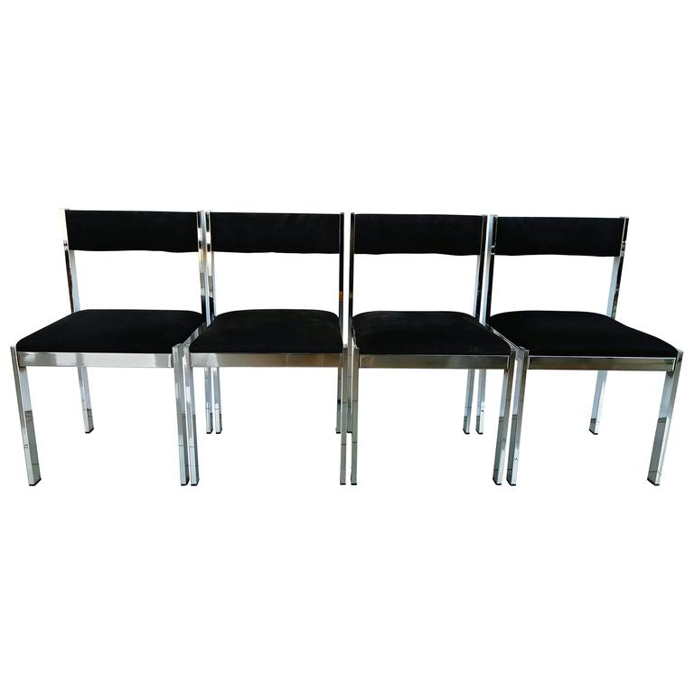 Set of four french chairs by roche bobois 1970s at 1stdibs - Roche bobois chaises ...