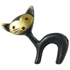 Walter Bosse Cat Figurine Pen Holder, Hertha Baller, Austria, 1950s