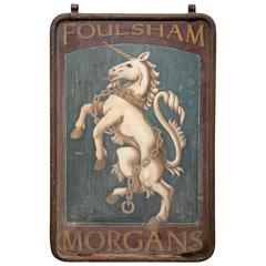 "English Pub Sign ""Foulsham Morgans"""