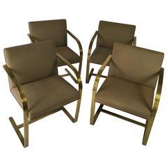Brno Flat Bar Chairs, Bronze Finish