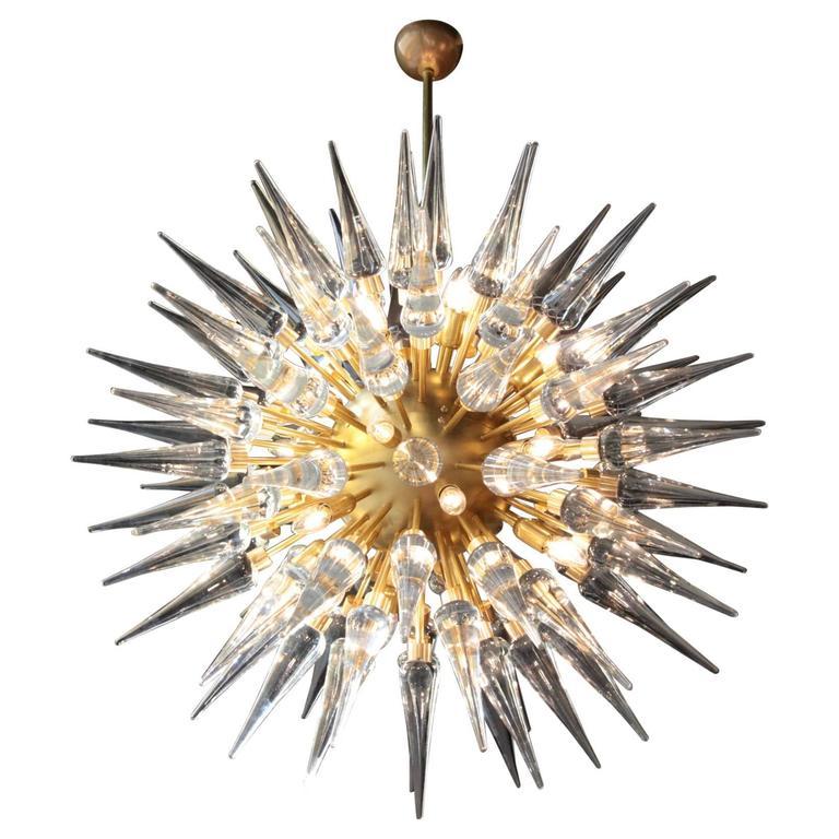 Exceptional Huge Atomic or Sputnik Chandelier Style of Stilnovo