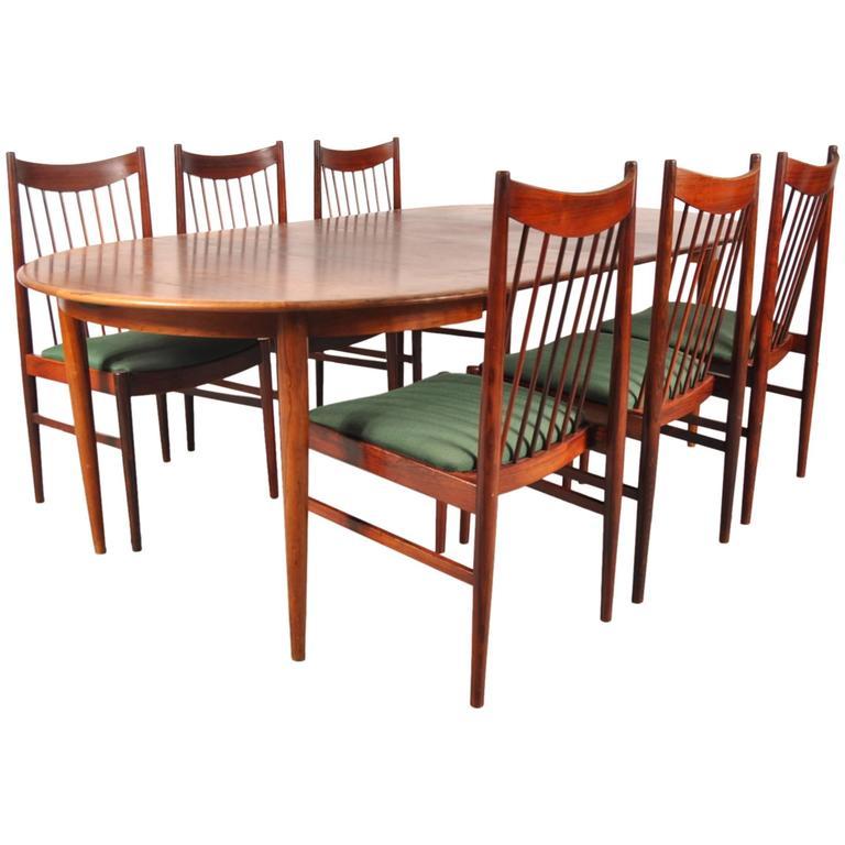 Rosewood Dining Set By Arne Vodder For Sibast Denmark Circa 1960 At 1stdibs