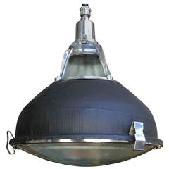 Cast Aluminum Pendant Lights with Original Glass