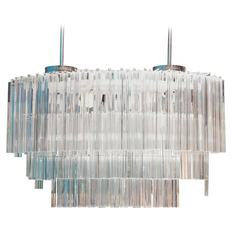 Monumental Camer Murano Glass Chandelier