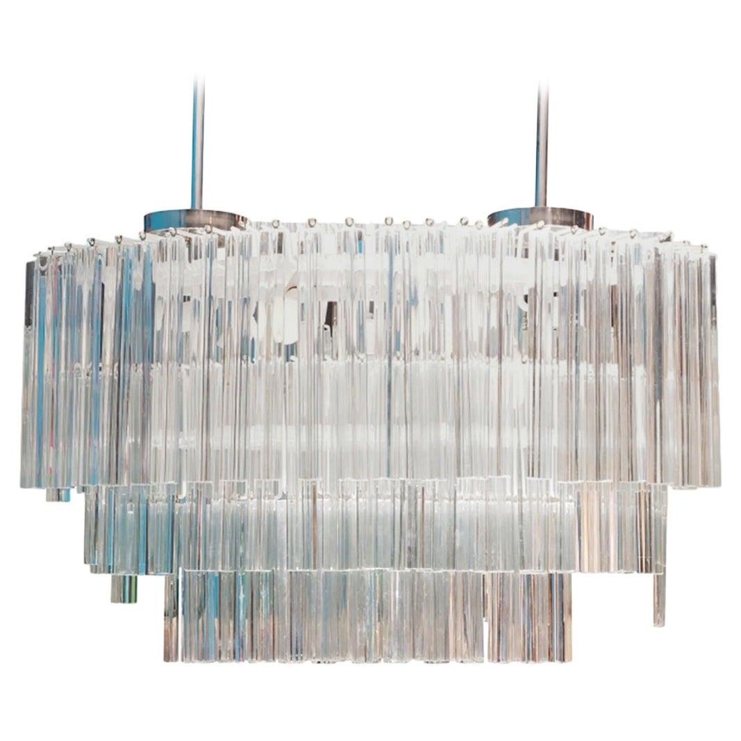 Monumental Camer Murano Glass Chandelier