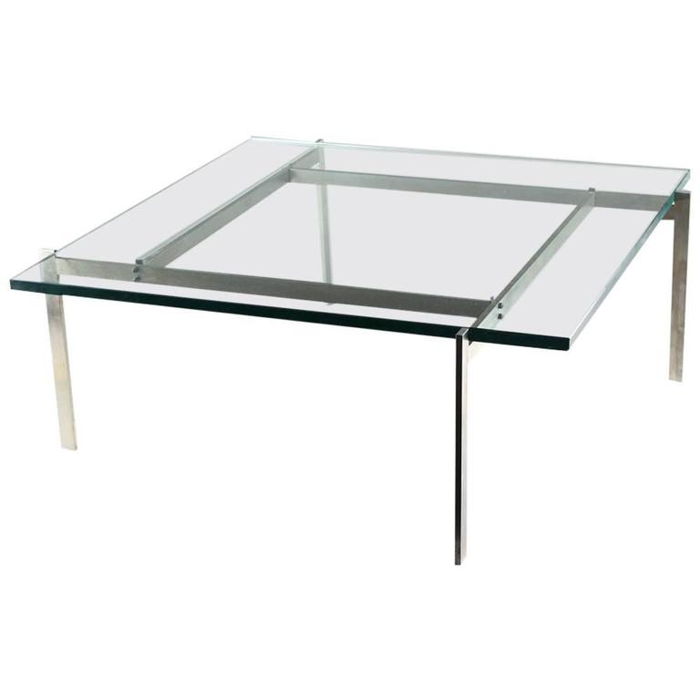 Poul Kjaerholm PK61 Coffee Table, 20th Century For Sale