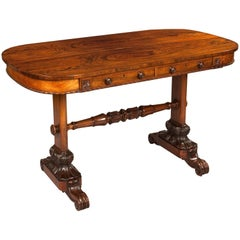George IV Carved Goncalo Alves Library or Sofa Table