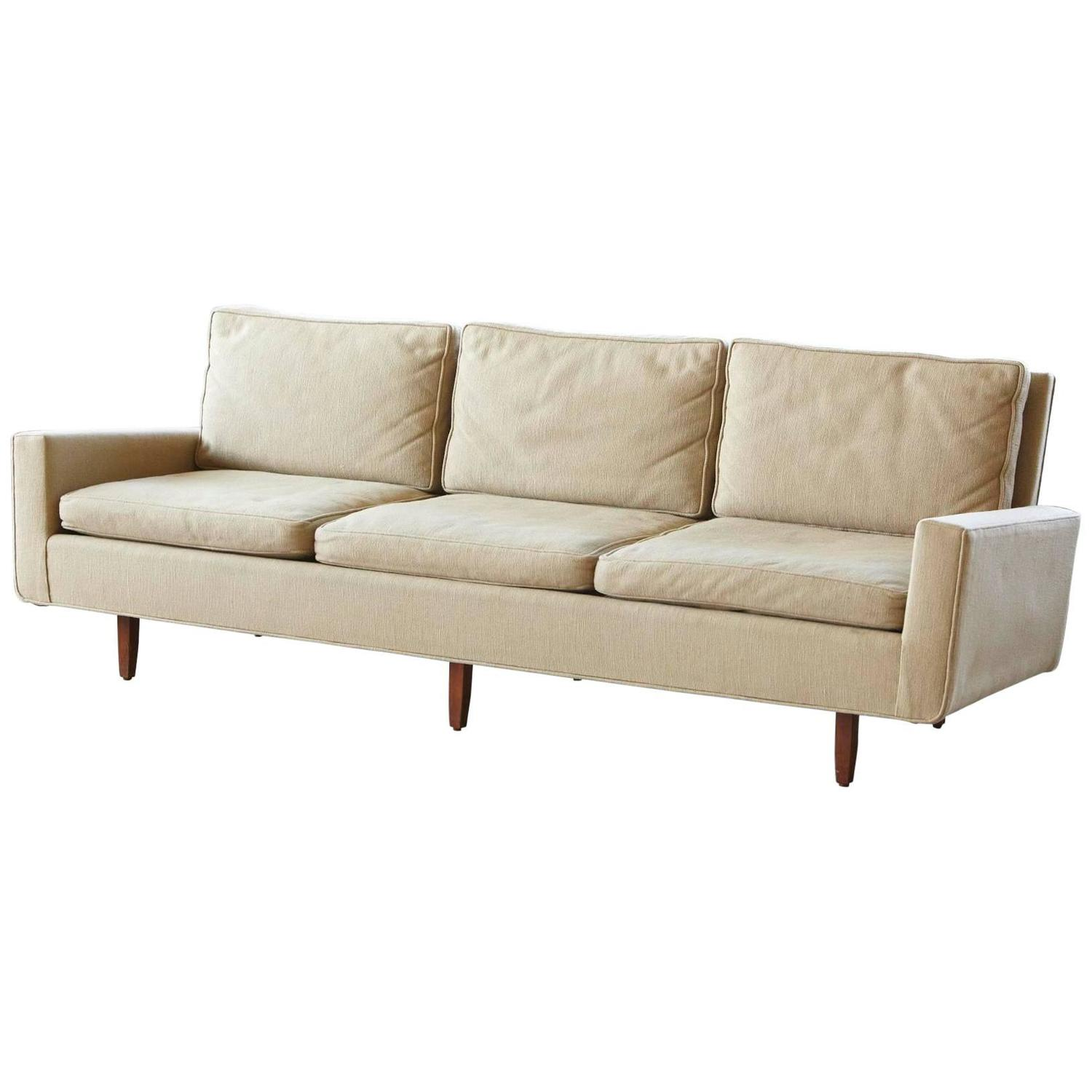 Early Florence Knoll Sofa Model 26d From 1967 With Original Fabric For Sale At 1stdibs