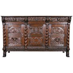 17th Century French Period Louis XIII/Louis XIV Transitional Enfilade Buffet