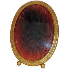 Wonderful Vintage Gorham Gold Gilt Dore Ormolu Beveled Glass Picture Frame