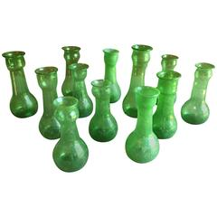 Collection of 12 Blown Glass Vases
