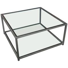 Contemporary Design Marcelo Iron and Glass Coffee Table