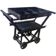 Folky Handmade Industrial Pushcart