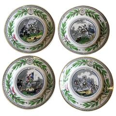 Set of Four Creil Plates, Napoleon