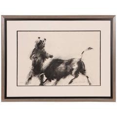 Rare Leroy Neiman 'American, 1921-2012' Print Charging Bull and Bear