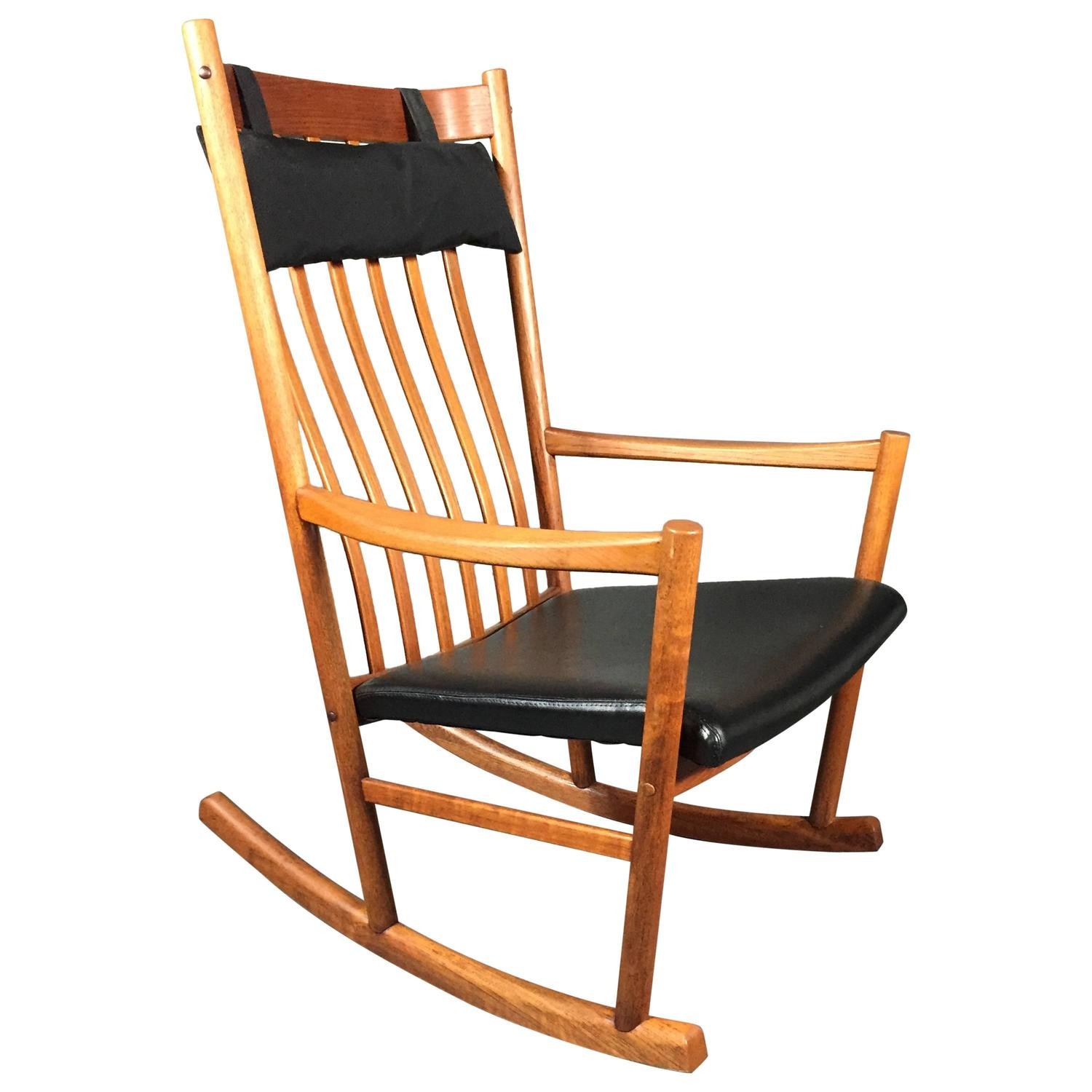 Hans J. Wegner Teak Rocking Chair Denmark For Tarm Stole 1960s At . Full resolution‎  portraiture, nominally Width 1500 Height 1500 pixels, portraiture with #C86F03.