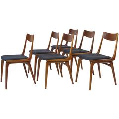 Erik Christiansen Boomerang Danish Teak Dining Chairs