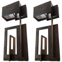 Pair of Table Lamp by Angelo Brotto, Italy, circa 1980