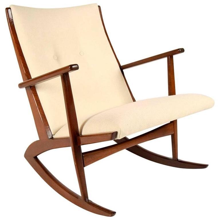 Boomerang Rocking Chair by Søren Georg Jensen for Kubus, 1960s 1