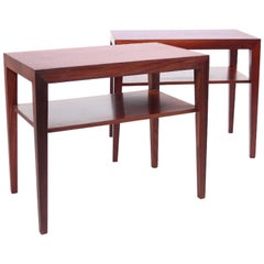 Severin Hansen Pair of Rosewood Side Tables 1960s