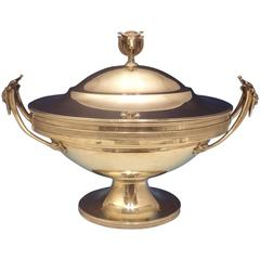 Gorham Sterling Silver Tureen with 3D Bull Finial Figural Exceptional Hollowware