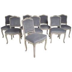 Set of Eight French Louis XV Dining Chairs