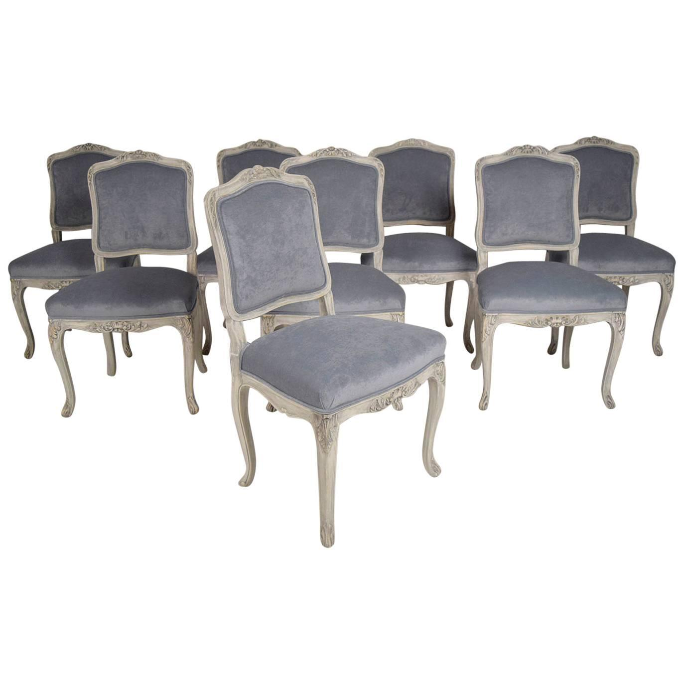 Louis xv dining chair - Set Of Eight French Louis Xv Dining Chairs