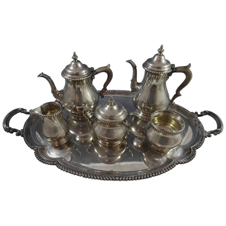Astonishing Kensington by Gorham Sterling Silver Tea Set Six-Piece, Hollowware