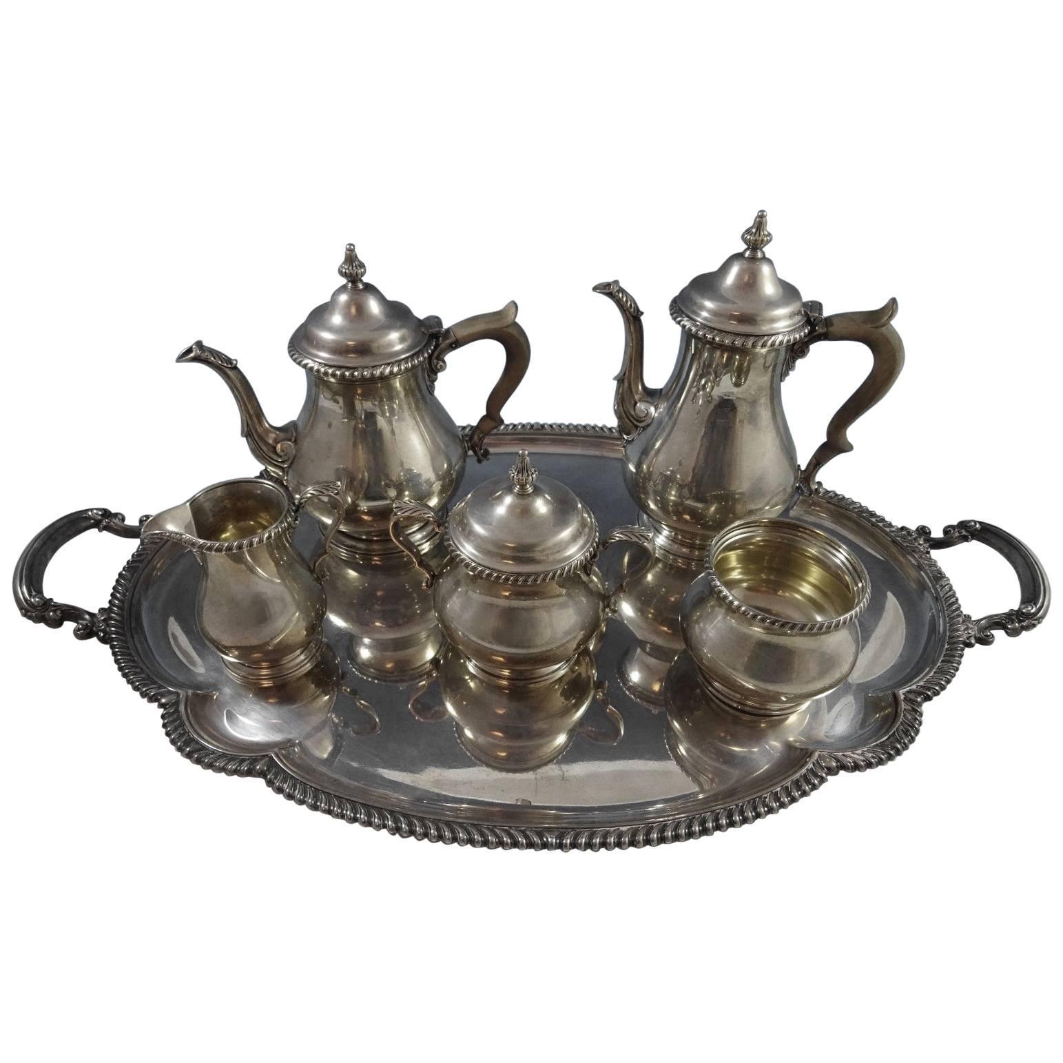 Astonishing Kensington by Gorham Sterling Silver Tea Set Six-Piece SKU #1188