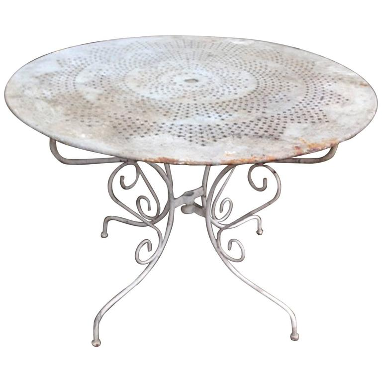 Iron Garden Table