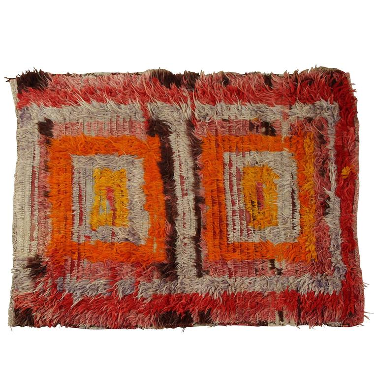 Colorful vintage turkish rug for sale at 1stdibs for Colorful rugs for sale