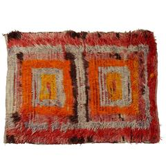 Colorful Vintage Turkish Rug