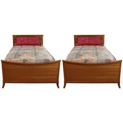 Pair of Brown & Saltman Twin Beds