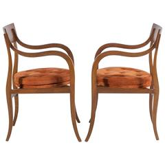 Pair of Dunbar Alexandria Chairs by Edward Wormley