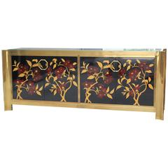 Mastercraft Brass, Lacquer and Gilt Cabinet