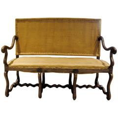 19th Century French Louis XIII Style Os de Mouton Settee