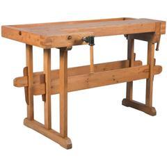 19th Century Danish Carpenter's Workbench, circa 1900