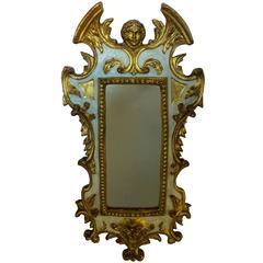 Italian Giltwood Gesso Figural Mirror