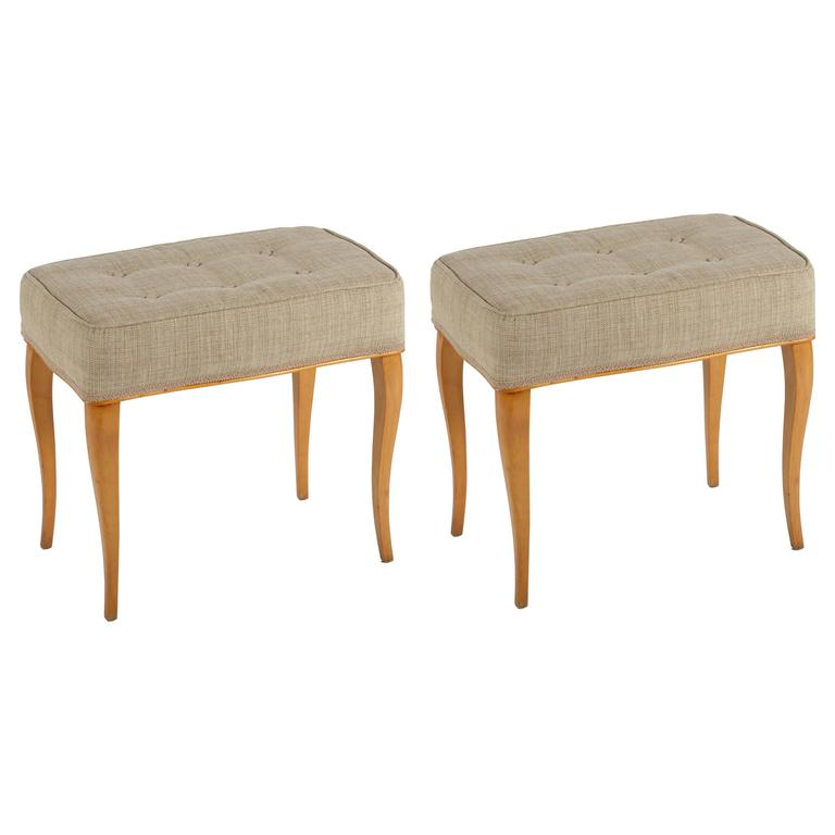 Pair of Italian 1940s Solid Maples Stools 1