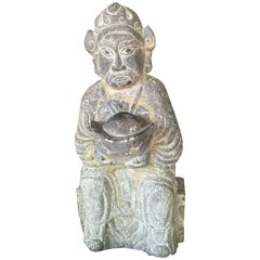"""China Antique New Year Wealth God """"Caishen"""" Sculpture"""