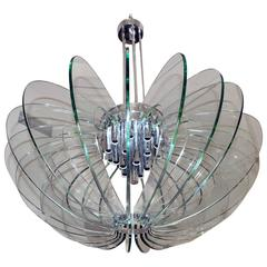 Large Chandelier by Fontana Arte, Italy, 1950s