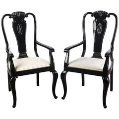 Sophisticated Pair of Mid-Century Modernist Dining Chairs