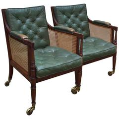 Pair of Library Armchairs