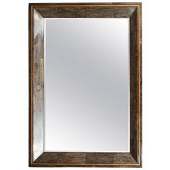 Coco Shell and Parchment Mirror