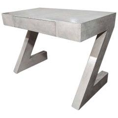 Custom Storm Gray Parchment Z Desk