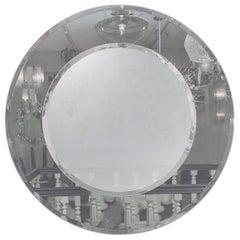 Custom Gray and Clear Circle Mirror