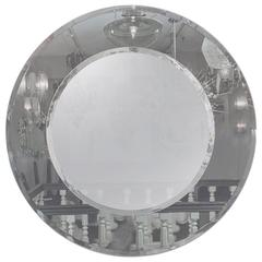 Custom Gray and Clear Circle Mirror
