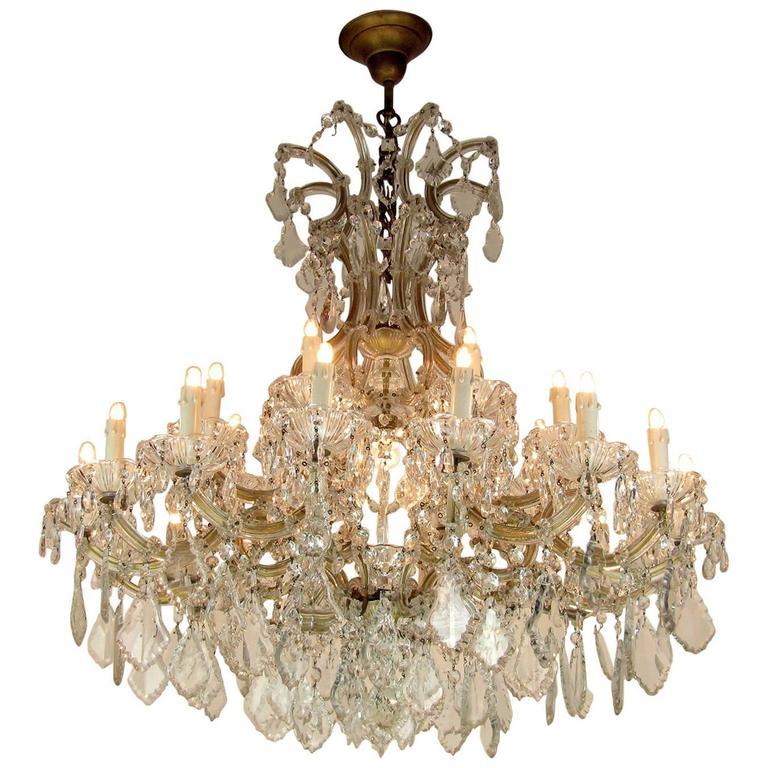 Large Italian Maria Theresa TwentyFour Light Crystal