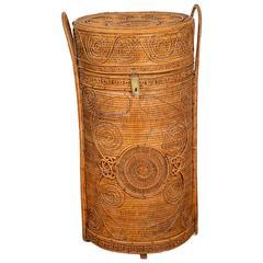 Manufactory of Perret & Vibert, Rattan Basket, circa 1880